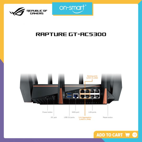 ASUS GT-AC5300 Tri-band WiFi Gaming router